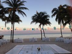 The Central Beach at Dreams Tulum Resort & Spa is the perfect place to watch the sunset and even better place to celebrate your special day!
