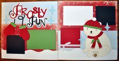 Frosty Fun 2 Page 12x12 Scrapbook Layout | eBay