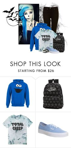 """Total Creep"" by elmoknowswhereyoulive ❤ liked on Polyvore featuring Sesame Street and Vans"