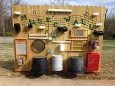 Upcycle just about anything onto a music wall. | 25 Amazing Backyard Ideas To…