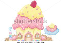 cupcake raspberry - stock vector