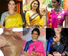 Blouse Designs for Banarasi Silk Sarees, simple blouse patterns for banarasi silk sarees