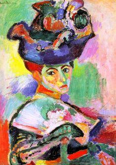 Henri Matisse - 1905 - mulher com chapéu - óleo sobre tela - 80,6 x 59,7 cm - museum of art, são francisco, eua