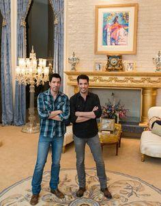 Drew & Jonathan Scott at Wayne Newton's home in Vegas for season 4 of Brother vs Brother 2016