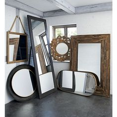 Dish Wall Mirror in Mirrors | Crate and Barrel