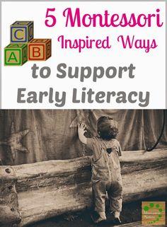 Montessori Nature: 5 Montessori Inspired Ways to Support Early Literacy. Montessori Activities, Infant Activities, Educational Activities, Preschool Activities, Montessori Toddler, Early Learning, Kids Learning, Social Emotional Development, Language Development