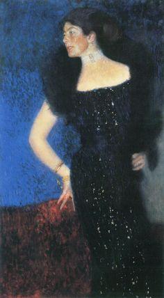 Gustav Klimt: Ritratto di Rose von Rosthorn-Friedmann (1900-01) olio su tela 190x120. Stile: Simbolismo. Periodo: Fase d'oro