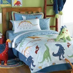 boys blue dinosaur duvet cover set by marquis & dawe | notonthehighstreet.com