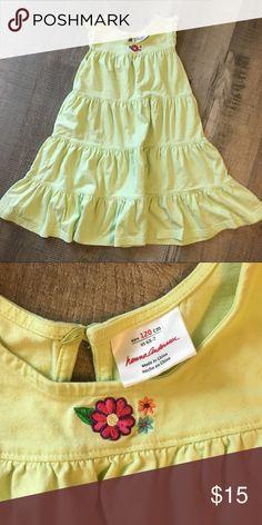 f8b48009fd726 Hanna Andersson lime green dress Euc size 6x/7, 120cm Lime green twirly  dress