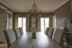 photo by Med Dement  #diningroom #serene #chandelier #calming #dining #diningtable