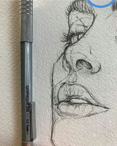 Love the rawness of ghis illustration sketches, drawing sketches, portrait sketches, sketch art Portrait Au Crayon, Pencil Portrait, Portrait Art, Inspiration Art, Art Inspo, Cool Drawings, Drawing Sketches, Drawing Tips, Drawing Ideas