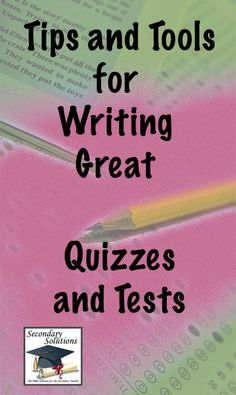 Tons of tips for helping #teachers write effective #quizzes and #tests....so helpful when designing tests.