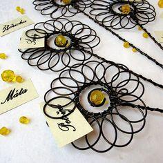 Bylinkovky - zápichy / Zboží prodejce Senper   Fler.cz Art Projects, Projects To Try, All The Small Things, Boho Diy, All Craft, Craft Night, Wire Crafts, Wire Art, Summer Crafts