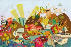 Color illustration for Vanity Fair   Oscar LLorens Illustration and design