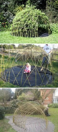 Make Your Garden Playful with This DIY Living Willow Playhouse.