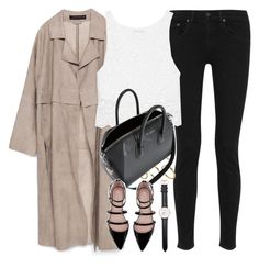 """""""Untitled #1403"""" by sophiasstyle ❤ liked on Polyvore featuring Zara, rag & bone, ASOS, Miguelina, Givenchy and Daniel Wellington"""