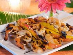 Tequila Grilled Shrimp and Mango Skewers.