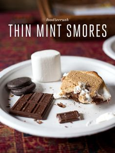These look delish!!!! Need Girl scout cookies for this? Let mm know!! - Thin Mint Girl Scout Cookie S'mores Recipe | foodiecrush  OH HECK YES!  Something to do with all those girl scout cookies we just bought!