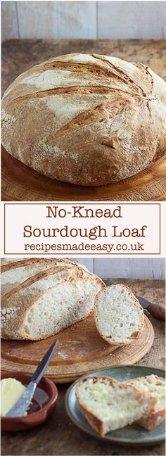 sourdough bread Making sourdough bread at home is now within easy to reach with this easy to step by step method for no knead sourdough bread. via jacdotbee Easy Bread Recipes, Gourmet Recipes, Cookie Recipes, Dessert Recipes, Loaf Recipes, Dessert Bread, Oven Recipes, Health Recipes, Baking Recipes