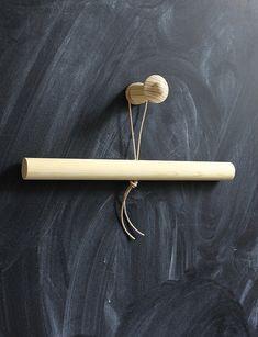 Bambula: DIY | Galge och avhängning för sovrumsentré ev med mässingsrör