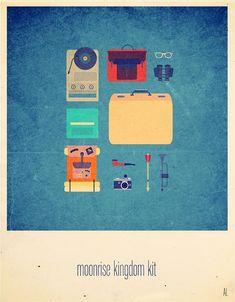 """Série de la cinéaste et graphiste Parisienne Alizée Lafon """"Movies Hipster Kits"""" Des affiches de films minimalistes remplies de références à la culture pop à découvrir dans la suite de l'article .."""