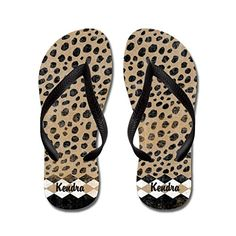 JKYUKO African Cheetah Pattern flip flops Adults SBlue *** Visit the image link more details.(This is an Amazon affiliate link and I receive a commission for the sales)