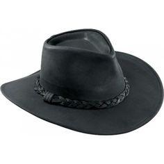 c7745cdc61dd Henschel Classic Australian Leather Walker Cowboy Hat Mens Cowboy Hats