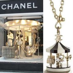 (A través de CASA REINAL) >>>>  A recreation of Chanel's jewelry into a widow design. Such a  fabulous idea!    #window #retail #display #design