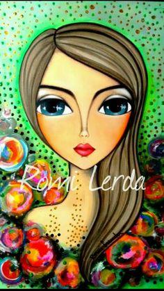 Risultati immagini per romi lerda mandalas Abstract Face Art, Abstract Geometric Art, Doll Painting, Painting & Drawing, Whimsical Art, Art Plastique, Portrait Art, Painting Inspiration, Art Girl