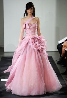 Vera Wang's Pretty Pink Fall 2014 Collection from Bridal Fashion Week