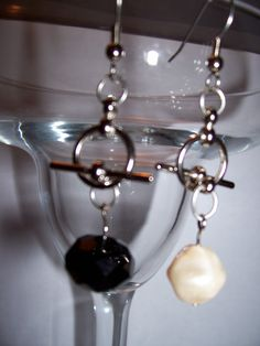 Interchangeable using Toggles  Wear Black one day Pearl the next