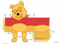 Las Recortables de Veva e Isabel: Winnie -The -Pooh and Friends. Winnie The Pooh Themes, Winnie The Pooh Birthday, Disney Winnie The Pooh, 3d Paper Crafts, Paper Toys, Diy And Crafts, Crafts For Kids, Diy Paper, Pooh Bebe
