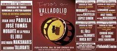 🗓Feria Taurina #Valladolid2016 Descubre y siente #Pucela #TienesQueVenir #Septiembre #ValladolidEsTaurina #FeriaTaurina #NuestraSeñoraDeSanLorenzo #FeriaTaurina #Feria #Toros #ValladolidEsTaurina #Arte #Cultura