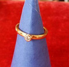 Pierre Lang Ring mit 1 Stein goldfarben Gr. 57 PL 8 JK78   eBay