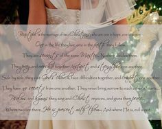 Beautiful is the marriage of two Christians <3