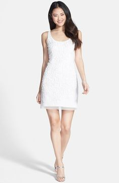 Adrianna Papell Embellished Mesh Tank Dress available at #Nordstrom