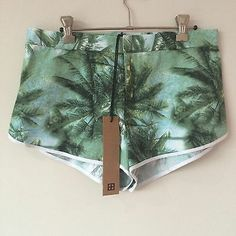 Ksubi Paradise Shorts General Pants Palm Tree Print BNWT Size M