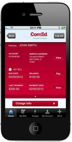 Download ComEd's mobile app to report outages, view your bills, make payments and more!
