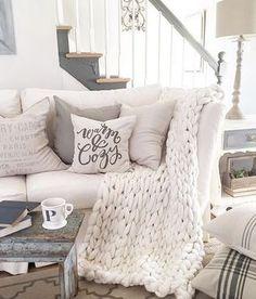 how to drape a throw blanket on a sofa throw yourself into fall rh pinterest com throw blanket on sectional sofa where to put throw blanket on sofa