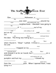 This Mad Lib-type activity is very entertaining on Halloween.  My students LOVE…