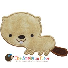 Beaver Machine Embroidery Applique Design