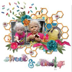 """Congrats to scrapbookmama - her layout """"Stick"""" was chosen as this week's Layout of the Week at Pickleberrypop. Congrats!"""