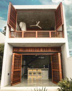 CASA OKABE / Mexican Design House with great view - Casas en renta en Brisas de Zicatela, Oaxaca, México Tropical House Design, Small House Design, Rest House, Cozy House, Tropical Architecture, Architecture Design, Exterior Design, Home Interior Design, Location Airbnb