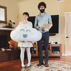 Bob Ross & Happy Little Cloud Halloween Costume