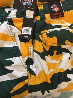 Green Bay Packers Camo Cargo Fleece Lined Long Pants 34W X 30L Warm  | eBay