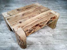 Stolik kawowy ze strego drewna Wysokość 25 szerokość 60x48
