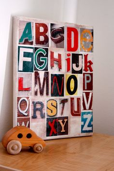 Cute alphabet board