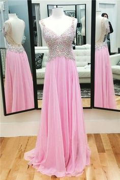 Pink Crystals Prom Dresses , Full Beading Top Prom Dresses , Sexy Open Back Prom Dresses , Floor Length Long Prom Dresses This dress could be custom made, there are no extra cost to do custom size and color.Description1, Material: sequin, tulle, elastic satin .2, Color: picture color or other colors, there are 126 colo #prom #promdress #dress #eveningdress #evening #fashion #love #shopping #art #dress #women #mermaid #SEXY #SexyGirl #PromDresses