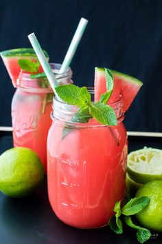 Recipe: Watermelon Lime Drink Alcohol Free - food and drink Lime Drinks, Fruit Drinks, Dessert Drinks, Fruit Smoothies, Alcoholic Drinks, Desserts, Easy Drink Recipes, Alcohol Drink Recipes, Delicious Cake Recipes