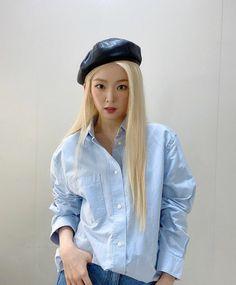 Seulgi, Thing 1, Irene Red Velvet, Denim Button Up, Button Up Shirts, Red Valvet, South Korean Girls, Kpop Girls, Instagram